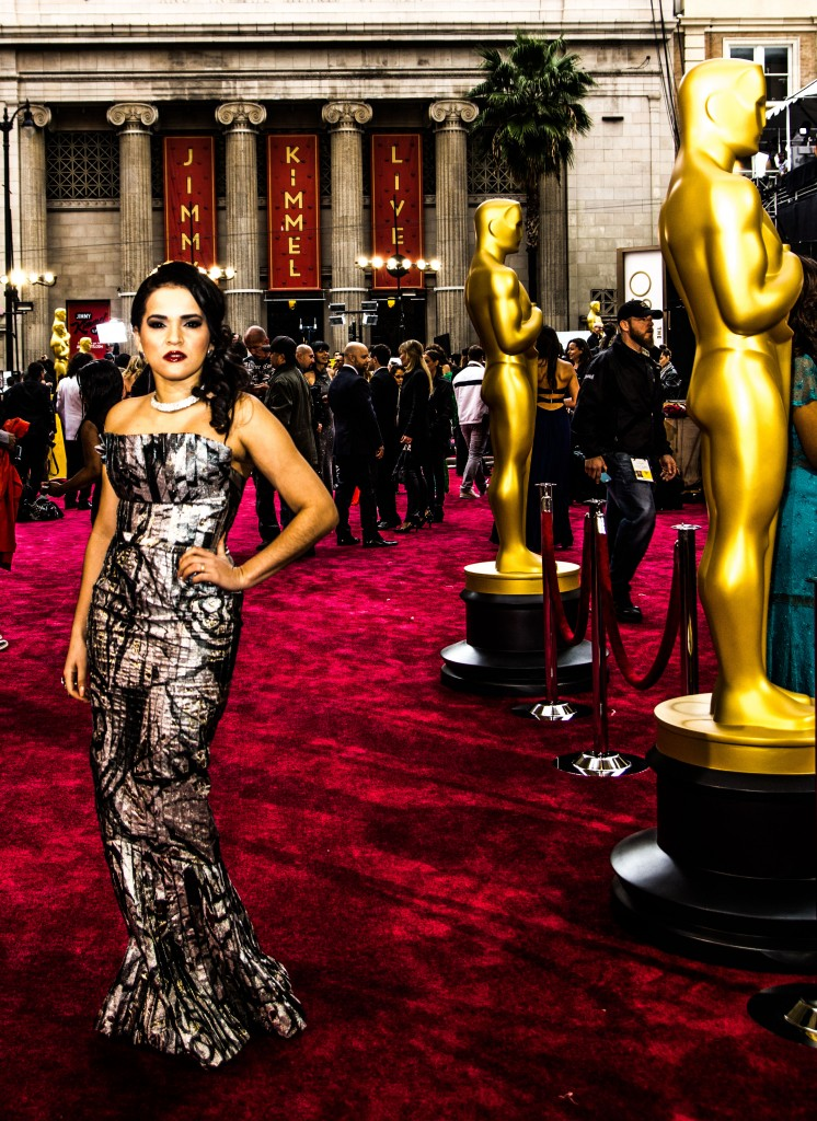 Olga Maria Dreams in Heels at The Oscars