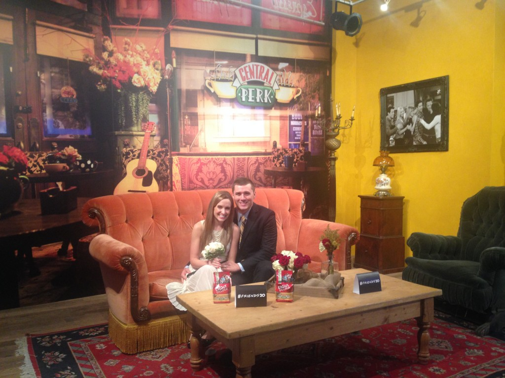 Just married at Friends Central Perk