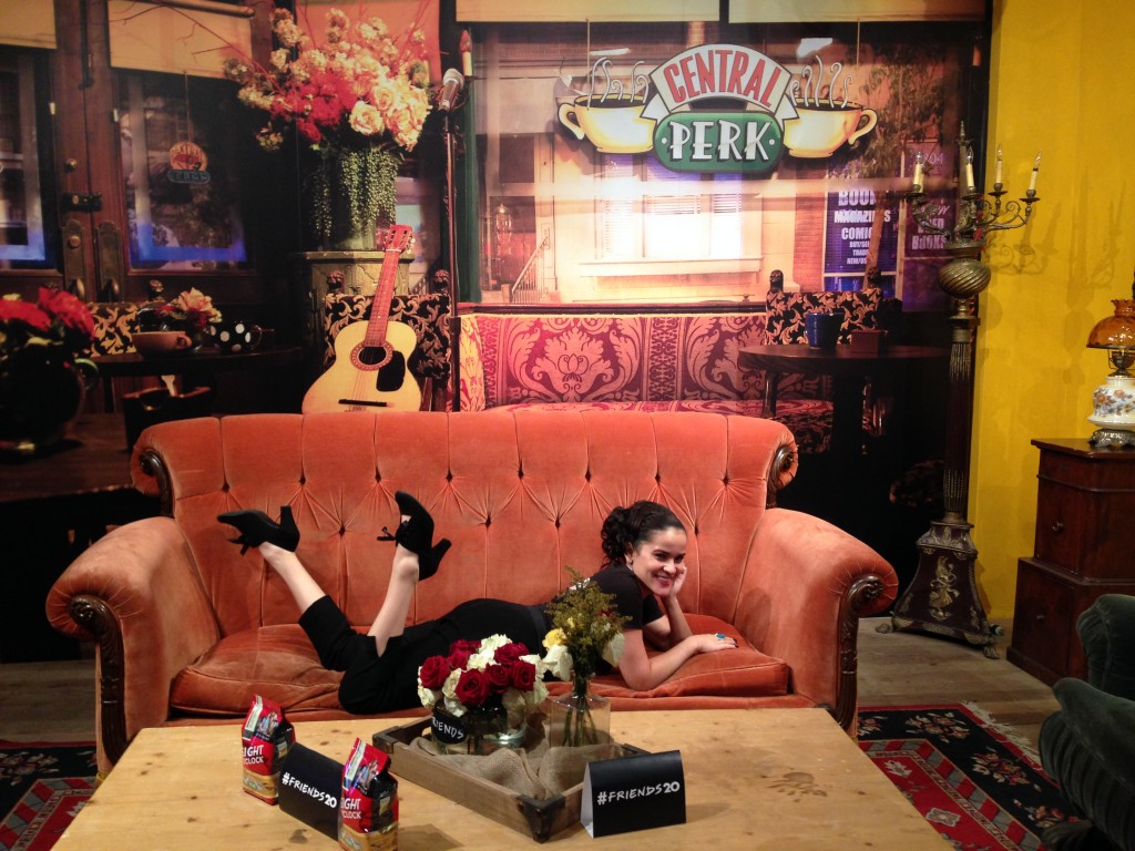 living my dreams in heels at the friends couch