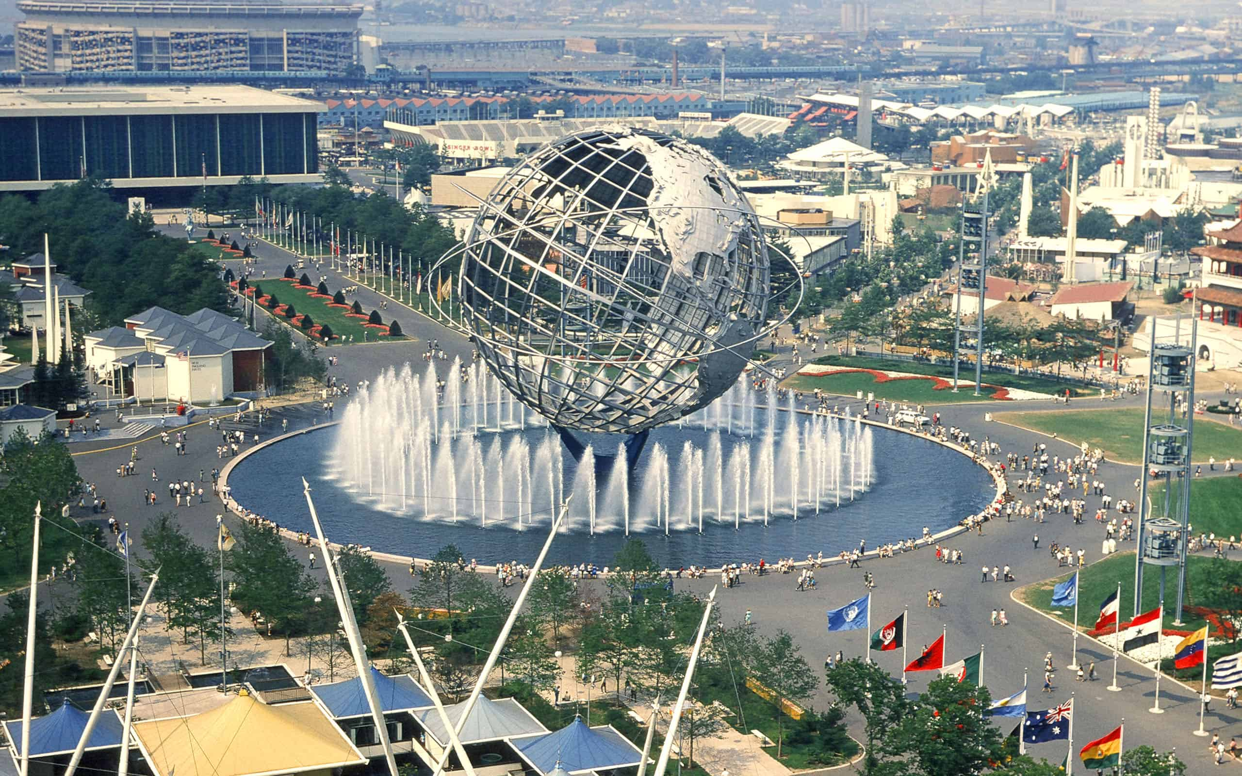 Unisphere - Flushing Meadows Corona Park / Photo Credit: thenewyorkstreets.com