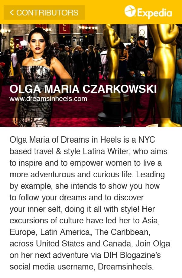 Expedia - NYC Pocket Guide Interactive Olga Maria Czarkowski, Dreams in Heels Blogazine